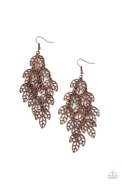 Paparazzi Earring ~ The Shakedown - Copper