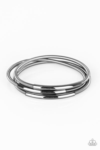 Paparazzi Bracelet ~ Its A Stretch - Black