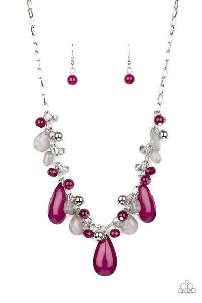 Paparazzi Necklace ~ Seaside Solstice - Purple