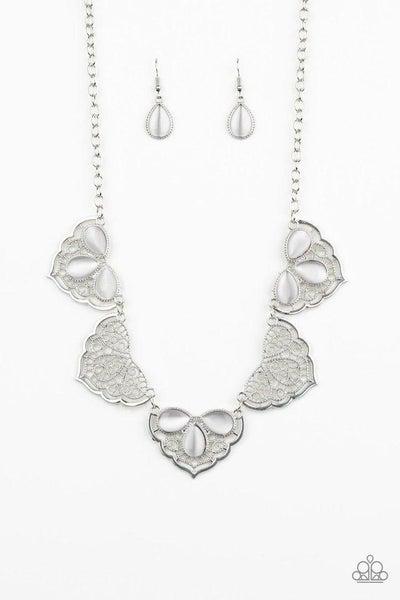 Paparazzi Necklace ~ East Coast Essence - White