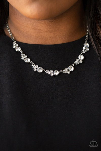Paparazzi Necklace ~ Social Luster - White