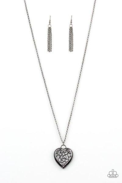 Paparazzi Necklace ~ Victorian Valentine - Black