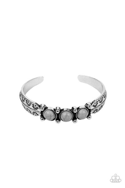 Paparazzi Bracelet PREORDER ~ Mojave Glyphs - Silver