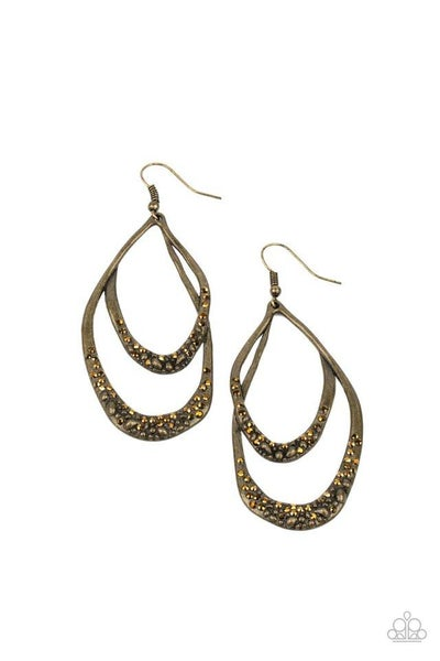 Paparazzi Earring ~ Beyond Your GLEAMS - Brass