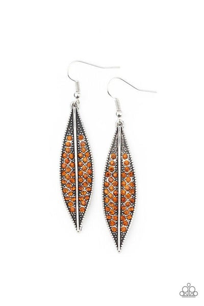 Paparazzi Earring ~ Hearty Harvest - Brown