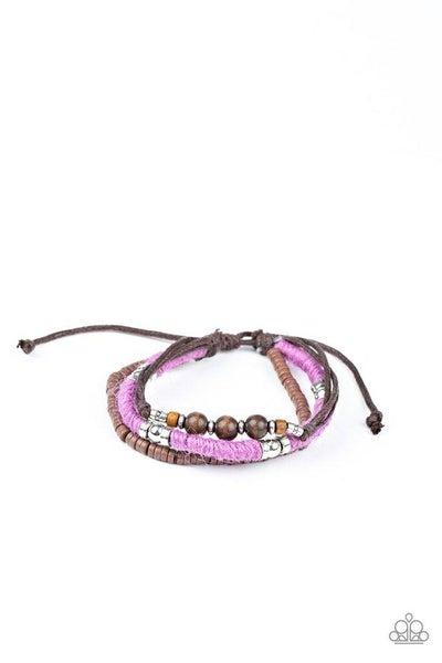 Paparazzi Bracelet ~ Totally Tiki - Purple