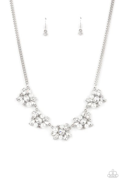 Paparazzi Necklace EMP Exclusive ~ HEIRESS of Them All - White
