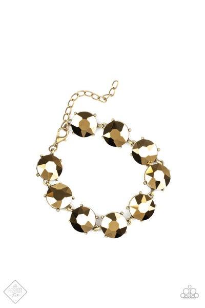 Paparazzi Bracelet  Fashion Fix Aug2020 ~ Fabulously Flashy - Brass