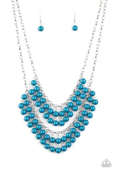 Paparazzi Necklace ~ Bubbly Boardwalk - Blue