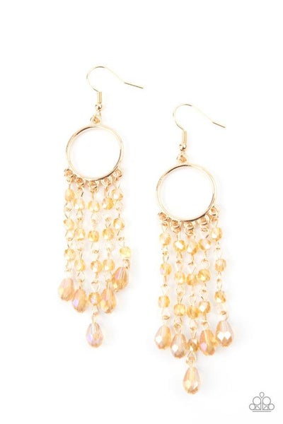 Paparazzi Earring ~ Dazzling Delicious - Gold