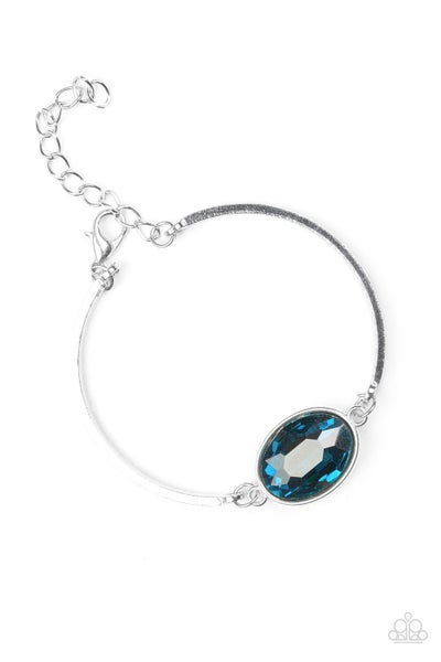Paparazzi Bracelet ~ Definitely Dashing - Blue