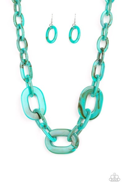 Paparazzi Necklace ~ All In-VINCIBLE - Blue