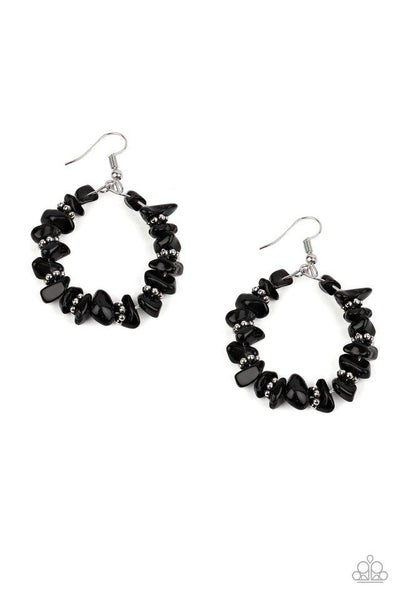Paparazzi Earring ~ Going for Grounded - Black