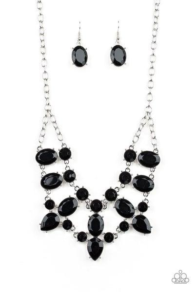 Paparazzi Necklace ~ Goddess Glow - Black