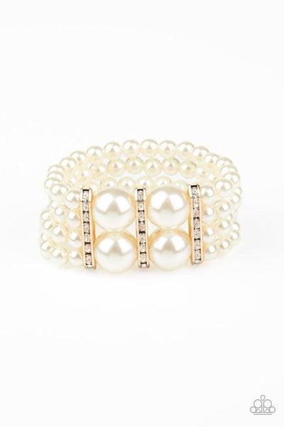 Paparazzi Bracelet ~ Romance Remix - Gold