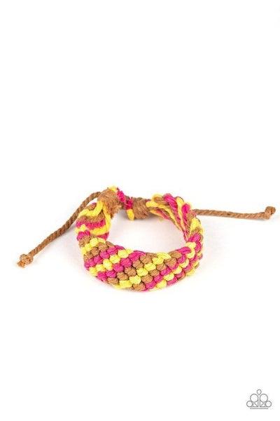 Paparazzi Bracelet ~ WEAVE No Trace - Pink