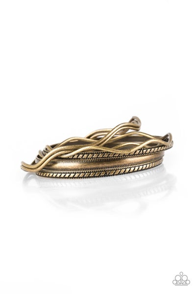 Paparazzi Bracelet ~ Zesty Zimbabwe - Brass