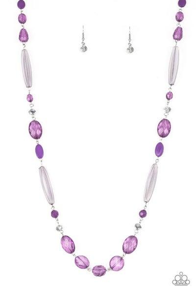 Paparazzi Necklace ~ Quite Quintessence - Purple