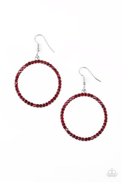 Paparazzi Earring ~ Stoppin Traffic - Red
