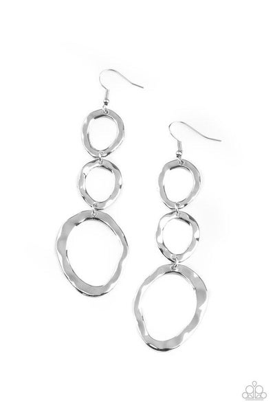 Paparazzi Earring ~ So OVAL It! - Silver