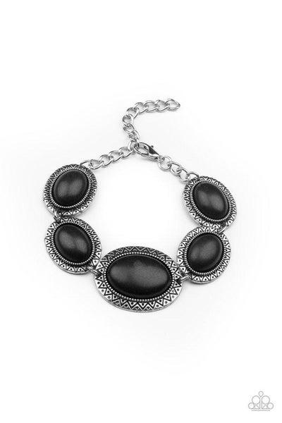 Paparazzi Bracelet ~ MESA Time Zone - Black