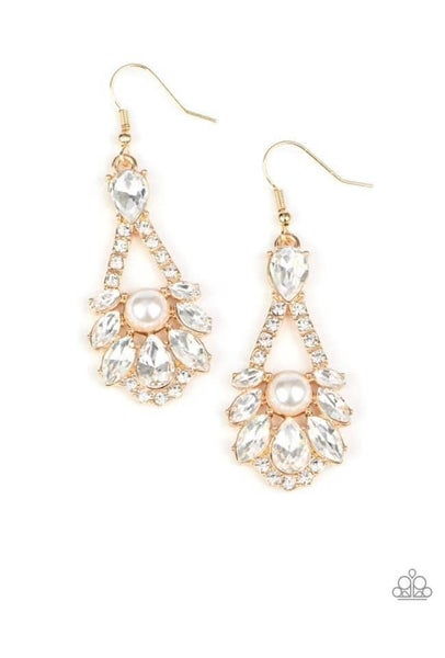 Paparazzi Earring ~ Prismatic Presence - Gold