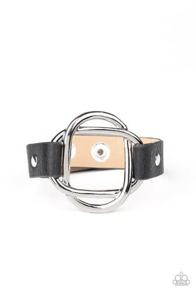 Paparazzi Bracelet ~ Nautically Knotted - Black