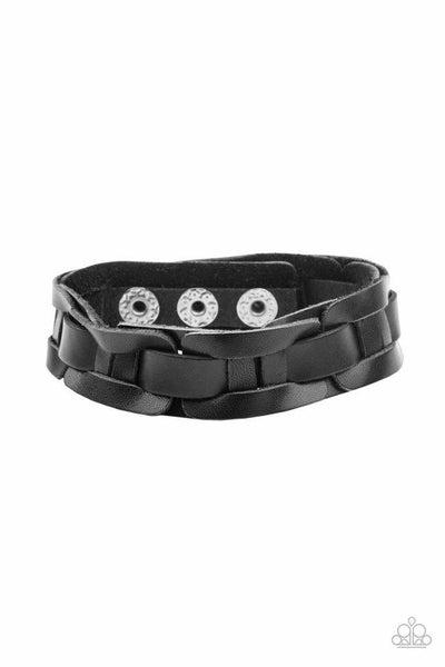 Paparazzi Bracelet ~ Garage Band Grunge - Black