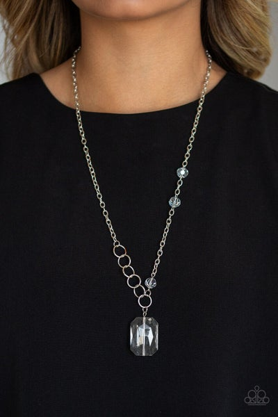 Paparazzi Necklace ~ Never a Dull Moment - White