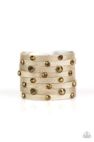 Paparazzi Bracelet ~ Go-Getter Glamorous - Brass