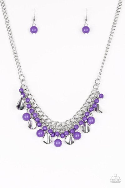 Paparazzi Necklace ~ Summer Showdown - Purple