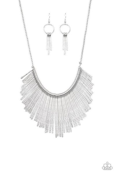 Paparazzi Necklace ~ Metallic Mane - Silver