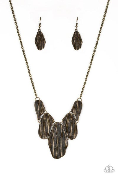 Paparazzi Necklace - A New DISCovery - Brass