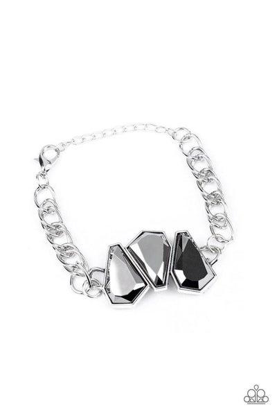 Paparazzi Bracelet ~ Raw Radiance - Silver