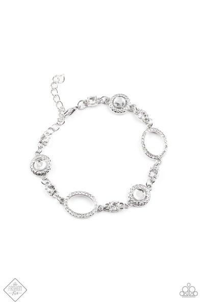 Paparazzi Bracelet ~ Wedding Day Demure - Fashion Fix Nov 2020 - White