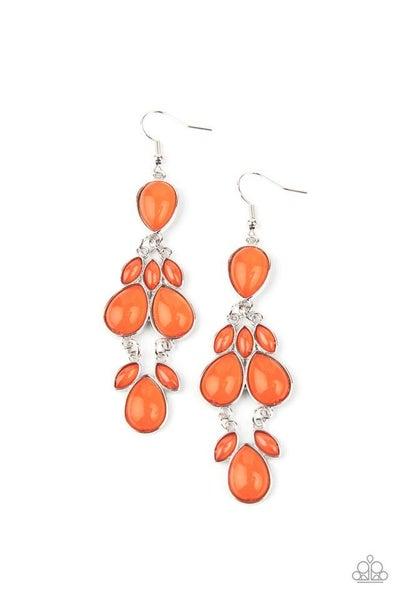 Paparazzi Earring ~ Superstar Social - Orange