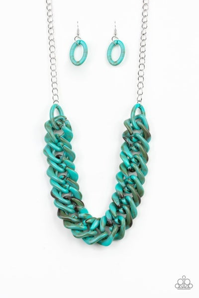 Paparazzi Necklace ~ Comin In HAUTE - Blue
