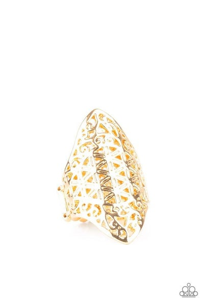 Paparazzi Ring PREORDER ~ FRILL Ride - Gold