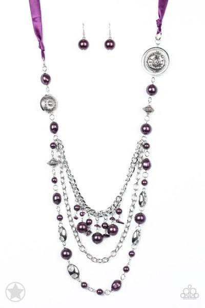 Paparazzi Necklace Blockbuster - All the Trimmings - Purple