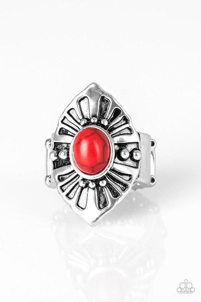 Paparazzi Ring PREORDER ~ HOMESTEAD For The Weekend - Red