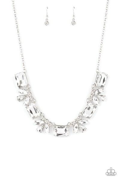 Paparazzi Necklace EMP Exclusive ~ Long Live Sparkle - White