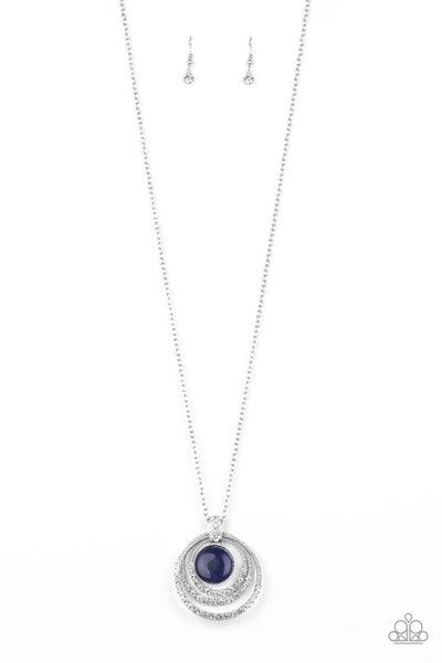 Paparazzi Necklace ~ A Diamond A Day - Blue