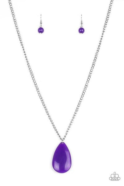 Paparazzi Necklace ~ So Pop-YOU-lar - Purple