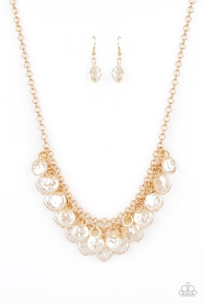 Paparazzi Necklace ~ BEACHFRONT and Center - Gold