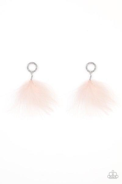 Paparazzi Earring ~ BOA Down - Pink