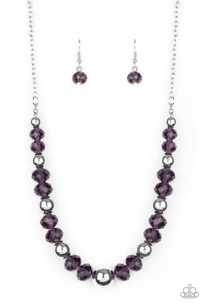 Paparazzi Necklace ~ Jewel Jam - Purple