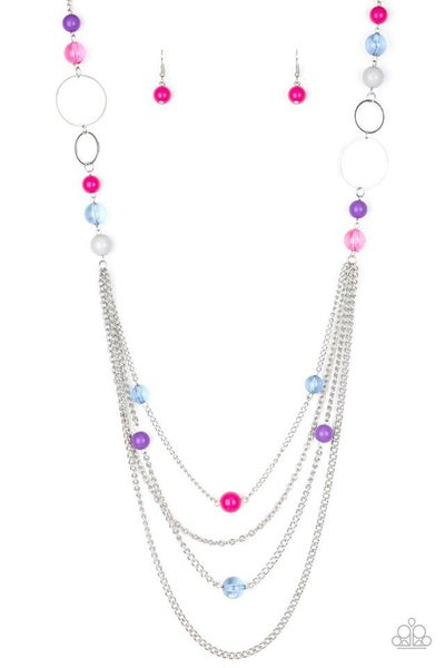Paparazzi Necklace ~ Bubbly Bright - Multi