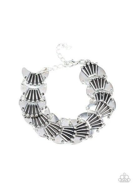 Paparazzi Bracelet ~ Moonlit Mesa - Silver