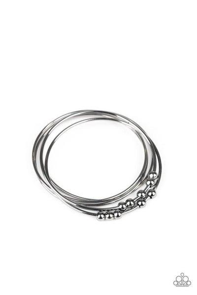 Paparazzi Bracelet ~ Stack Challenge - Black