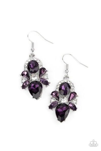 Paparazzi Earring ~ Stunning Starlet - Purple